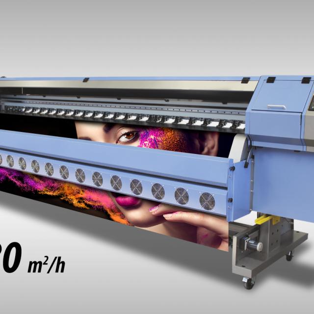 Ploter solwentowy Artemis KM 3208 - druk do 280 m2/h