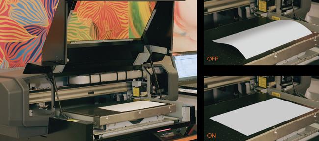 Stół z podsysem w drukarkach do gadżetów