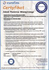 Certyfikat EUROFINS