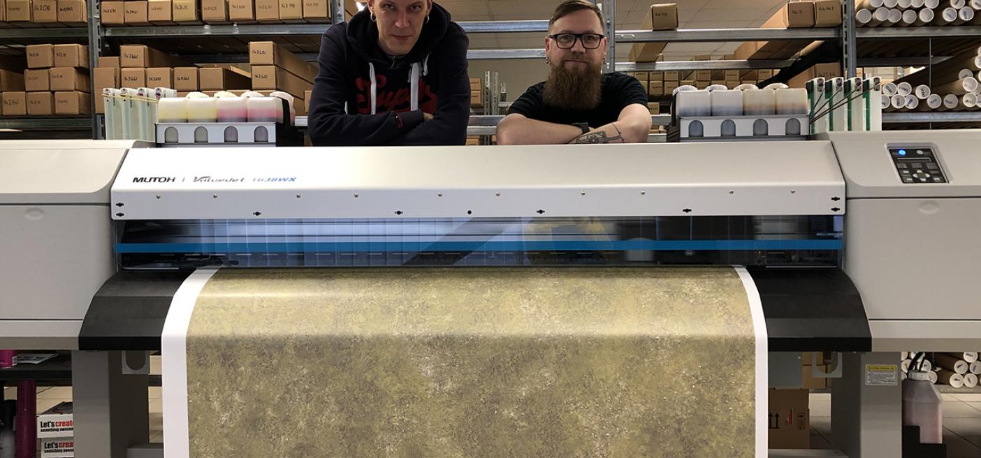 Drukarka sublimacyjna Mutoh ValueJet 1638WX w Deep-Cut Studio