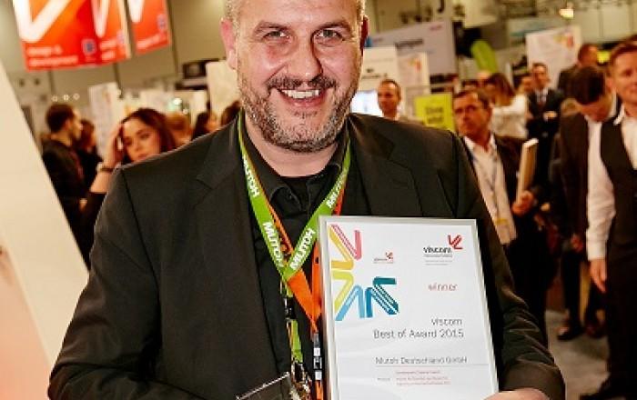 Volker Lienig odbiera nagrodę Viscom Best of 2015