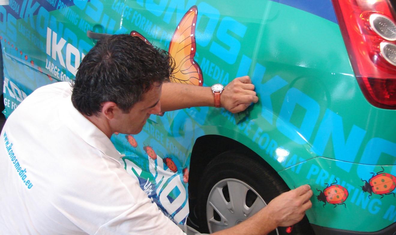 Aplikacje samochodowe - oklejanie pojazdów - Ikonos