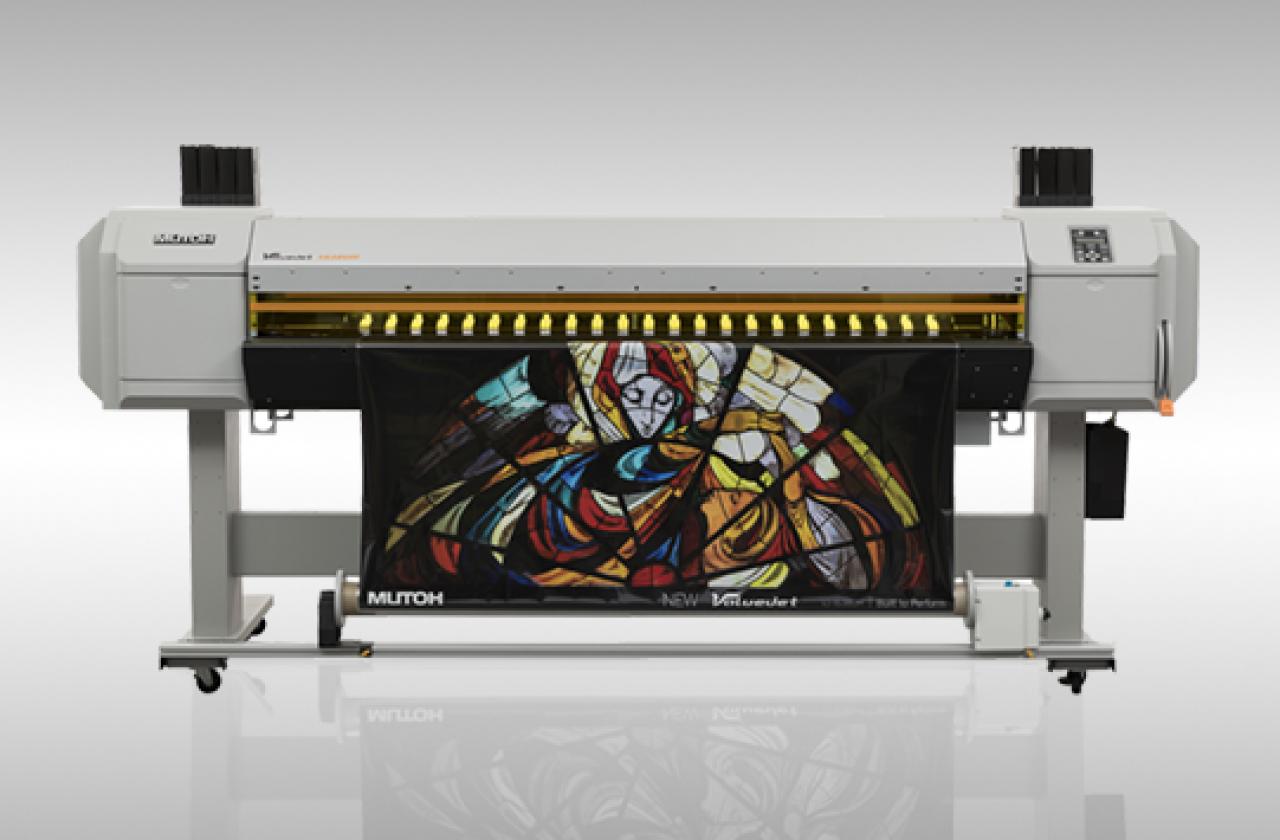 Ploter LED-UV Mutoh ValueJet 1638 UH (druk z roli roll-to-roll)